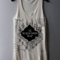 The Marauder's Map Shirt Harry Potter Map Shirts Tank Top Tunic TShirt T Shirt Singlet - Size S M L