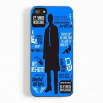 Cas Quotes Supernatural for iphone 5 and 5c case