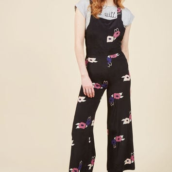No Space Like Home Jumpsuit in Blossoming Black