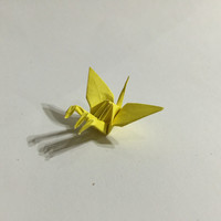 Three heads crane origami - tiny