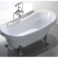 "MTDVanities Manhattan 63"" x 26.4"" Soaking Bathtub"
