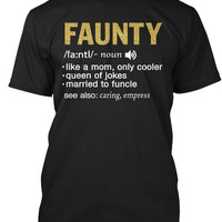 FAUNTY Definition Funny Gold T-Shirt