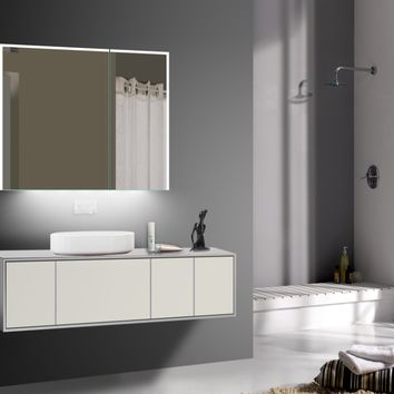 "CARRERA - BLUETOOTH enabled 31""x28"" Wall-Mounted LED Medicine Cabinet - Reflections Designer LED Mirrors"