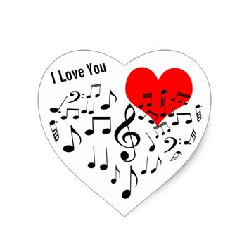 I Love You one-of-a-kind funny Heart Sticker