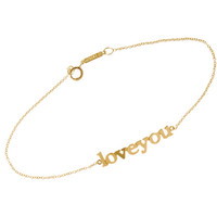 Jennifer Meyer Gold 'Love You' Bracelet at Barneys New York at Barneys.com