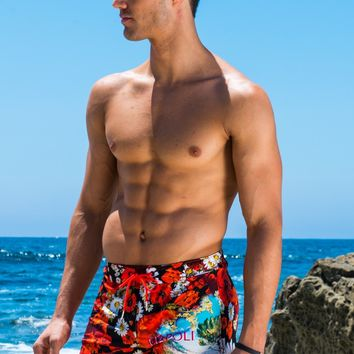 Sauvage Mens Swimwear - Napoli Retro Swim Trunks