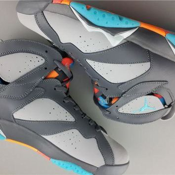 PEAPN Ready Stock' aj7 Air Jordan 7 ?¡ãBobcats?¡À Men Sneaker