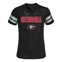 Georgia Bulldogs Opal Burnout Tee - Girls
