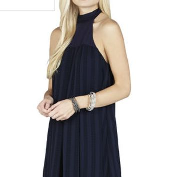 BCBGeneration Cocktail Navy Halter Dress