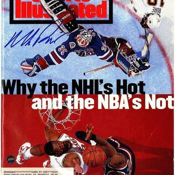 ICIKU7Q Mike Richter Signed with Patrick Ewing 6/20/94 Sports Illustrated Magazine