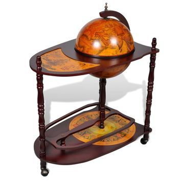 Globe Bar Cabinet with Table Trolley