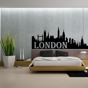 Vinyl wall decal - London, England