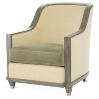 Burlingame Accent Chair, Green/Camel, Accent & Occasional Chairs