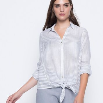 Picadilly Tie Front Top