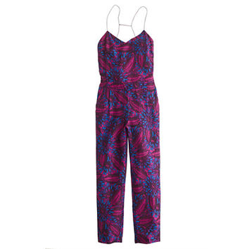 J.Crew Womens Midnight Floral Silk Jumpsuit