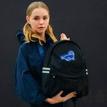 Noctilucent Backpack Ice-cream Sea Skull Bulb [4918674180]