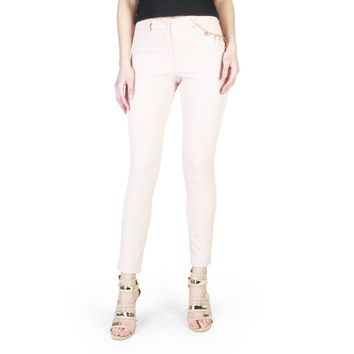 Rinascimento Pink Buttons Front Zip Pant