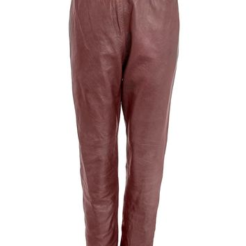 Giada Forte Stretch Waistband Leather Pants