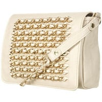 Cream Chain Crossbody Bag - Bags & Wallets  - Accessories