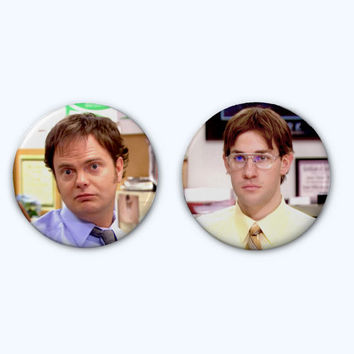 Jim as Dwight and Dwight as Jim, The Office Button Pair
