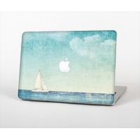 The Faded WaterColor Sail Boat Skin Set for the Apple MacBook Pro 15""
