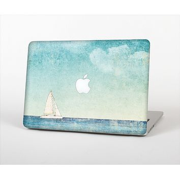 "The Faded WaterColor Sail Boat Skin Set for the Apple MacBook Pro 13"" with Retina Display"