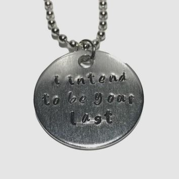 The Vampire Diaries Quote Hand Stamped Aluminum Necklace