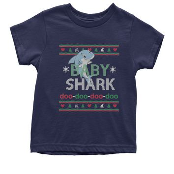 Baby Shark Challenge Ugly Christmas Youth T-shirt