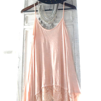 Coachella tunic dress, Gypsy Spell lace collective tunic, Bohemian beach girl, Boho chic clothes, Gypsy chic clothes, True rebel clothing M