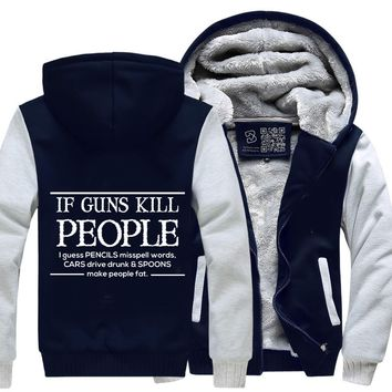 If Guns Kill People I Guess..., Conservative Fleece Jacket