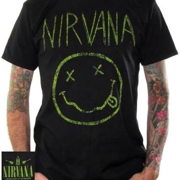 Nirvana T-Shirt - Smiley Face Distressed