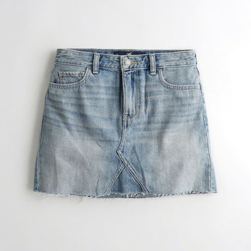 Girls High-Rise Denim Skirt | Girls Bottoms | HollisterCo.com