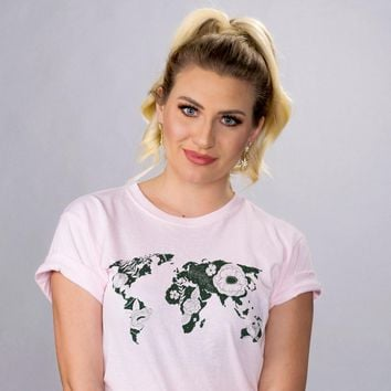 Floral World Map Eco Shirt
