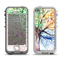 The WaterColor Vivid Tree Apple iPhone 5-5s LifeProof Nuud Case Skin Set
