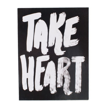 Take Heart Black Sticker
