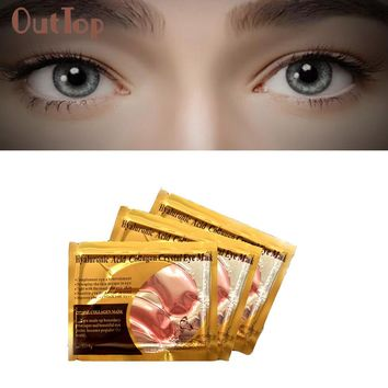 OutTop Refirming eye bags. Pink Eye Collagen Aging Wrinkle Under Crystal Gel Patch Anti Mask Skin Remove Acne 2017 July4