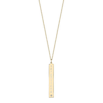 Leigh ID Diamond Accent Necklace