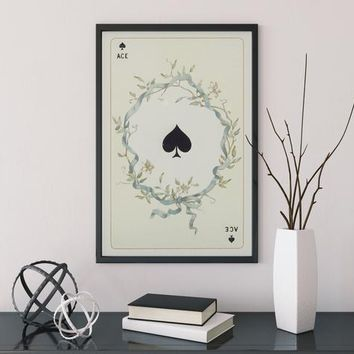 Ace of Spades Card Poster - No Frame