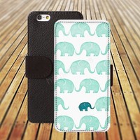 iphone 5 5s case Flowers elephant iphone 4/ 4s iPhone 6 6 Plus iphone 5C Wallet Case , iPhone 5 Case, Cover, Cases colorful pattern L123