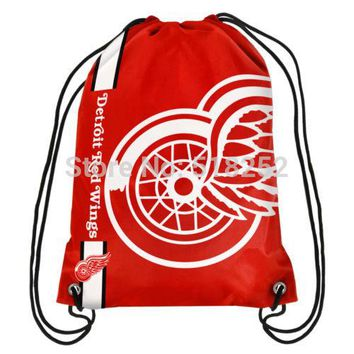 Detroit Red Wings Drawstring Backpack Customize Bags NHL 35x45cm Sports Team