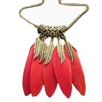 The Tribal - Feathered Necklace