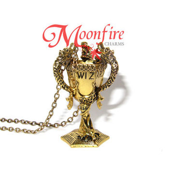HARRY POTTER Triwizard Tournament Cup Gold Necklace