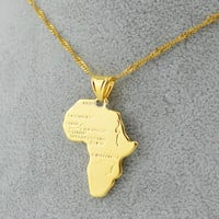 Africa Pendant Necklace