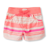 Toddler Girls Rib-Knit Waistband Shorts | The Children's Place