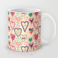 Girly Heart Doodle Mug by Perrin Le Feuvre | Society6