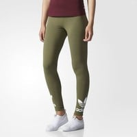 adidas Trefoil Leggings - Brown | adidas US