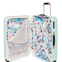 Medium sugar sweet floral suitcase - Pale Green | Bags | Ted Baker UK