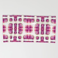 Grazioso Bold Kaleido Pink Beach Towel by Lisa Argyropoulos