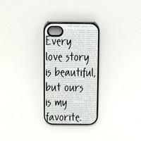 Iphone 4 Case  Our Story Iphone Case iphone 4s by fundakcases