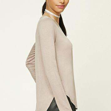 High-Low Knit Top